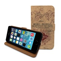"Beanbeancase Harry Potter Marauders Map Flip Pu Leather Cover Case for iPhone 6 4.7"" (K29)"