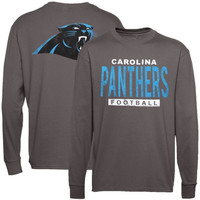 Carolina Panthers Junk Food Handoff Long Sleeve T-Shirt – Gray