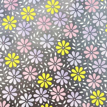Bulk Ream Roll Floral Any-Occassion Gift Wrap Wrapping Paper, Daisy