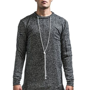 Kollar Clothing The Dean Pullover - Charcoal Grey