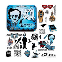 Edgar Allan Poe Tattoos - Accoutrements - Historical Figures - Tattoos at Entertainment Earth
