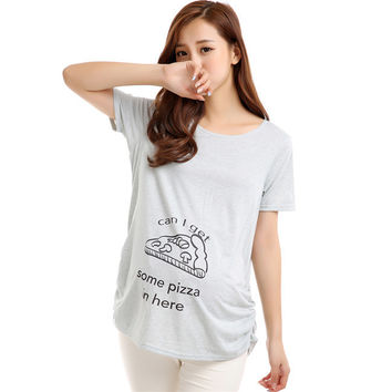 Casual Funny Maternity Nursing Women T-shirts Tops Blouse Pregnant Clothes 30 ColorsSM6
