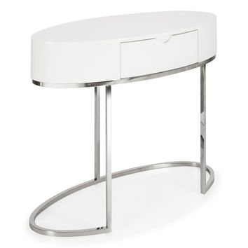 Juliet Writing Desk WHITE/SILVER