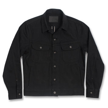 The Long Haul Jacket in Yoshiwa Mills Black Selvage