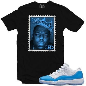 "YOUNG CEO - JORDAN 11 LOW ""UNC"" BIGGIE STAMP BLACK TEE"