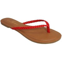 Red Braided Flip Flop