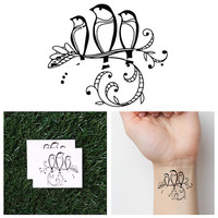 Three Little Birds - Temporary Tattoo (Set of 2)