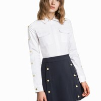 RILEY SNAP BUTTON UTILITY DRESS