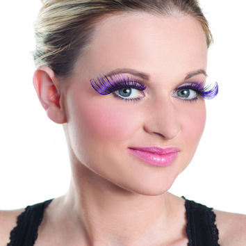 Purple Long Curled Sexy Ravewear Eyelashes