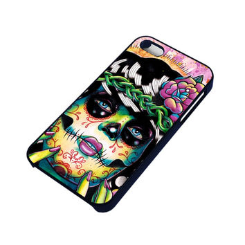 DAY OF THE DEAD SKULL GIRL iPhone 4 / 4S Case Cover