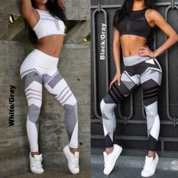 2018 3D Print Sporting Legging Women Elastic Fitness Leggings Sexy High waist leggings Gyms Pants Workout Lady Leggings Gothic
