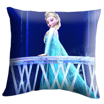 "Disney Frozen Elsa Pillow Cover, Pillow case, Throw Bed Bedroom, Size 18"" x 18"""
