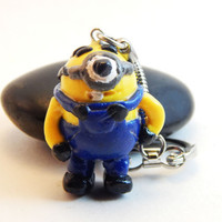 Minion keychain Despicable me minion keyring polymer clay charm handmade key ring key chain cute car accessories figurine minions character