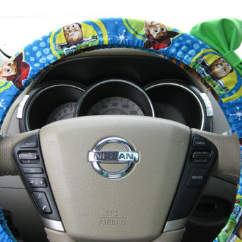 Steering Wheel Cover Bow, Disney Toy Story Inspired Steering Wheel Cover with Lime Green Bow BF11127