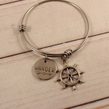 """Wander"" Adjustable Bangle Bracelet - ready to ship!"