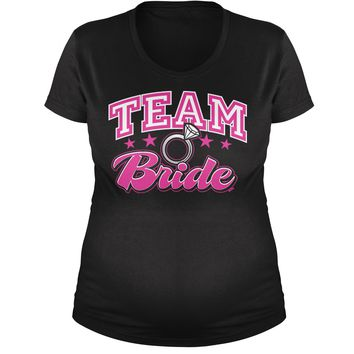 Team Bride Bridal Party Maternity Pregnancy Scoop Neck T-Shirt