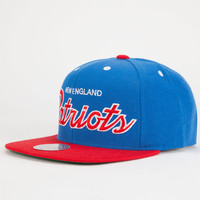 Mitchell & Ness New England Patriots Mens Snapback Hat Red/Blue One Size For Men 25699037101