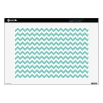 "Cockatoo - Green Mint And White Zigzag Chevron 15"" Laptop Decal - Skins For 15"" Laptops"