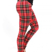Jingle Bell Rock Plaid Leggings | Monday Dress Boutique