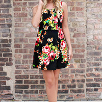 Besties in Bloom Dress - Black