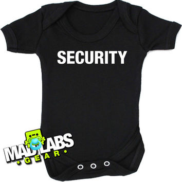 Security I'm with the band favourite Aunt first cute funny baby one piece music tv show gus jumper Bodysuit Creeper Dirty DJ B-30