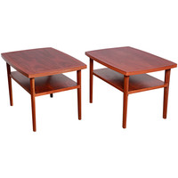 Rare Pair of George Nakashima End Tables for Widdicomb