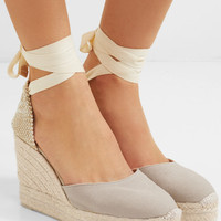Castañer - Carina canvas wedge espadrilles