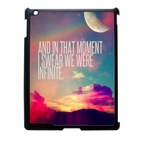 Perks Of A Wall Flower Quote Design Vintage Retro iPad 3 Case