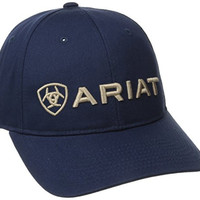Ariat Men's Navy Basic Center Logo Hat, Blue, One Size