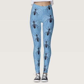 Abstract Flying Ant With Wings Leggings