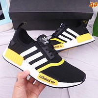 Adidas NMD New fashion stripe print sports leisure couple shoes