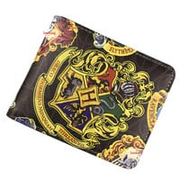 Wallet Harry Potter Sherlock Holmes Walking Dead Small Zipper Coin Pocket Men's Wallet Female Purse ID Card Holder Leather Purse— Christmas gifts