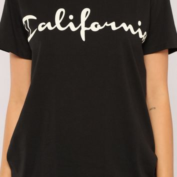 Fresh As Bel Air Oversized Tee - Black