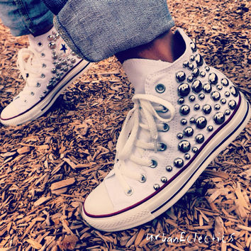 Studded High Top Chuck Taylors