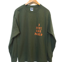 Rare Kanye West I Feel Like Pablo T-shirt LONG SLEEVE