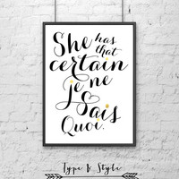Kate Spade Inspired Quote Framed Poster - Framed Digital Art - Typography Print - Home Decor - Framed Wall Art - French Art - Kate Spade