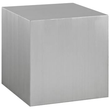 Cast Stainless Steel Side Table
