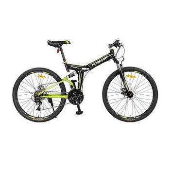 171007/24-speed bike / front and rear damping folding mountain bike / two-disc brakes/Aluminum alloy rims/Fish scale welding