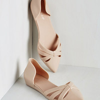 ModCloth Come Jell or High Water Flat in Tan