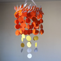 Orange ombre scallop circle.Baby Nursery mobile, Crib mobile. All occasion lullaby mobile. Boy/Girl/Teen/Tween mobile. Choose Your Colors!