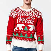 Junk Food Coca Cola Polar Bears Christmas Sweater - Mens Sweater - Red