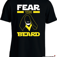 Fear The Beard T Shirt Funny Beard Shirt Gifts For Guys Movie Parody College Humor Joke Mens Tee MD-88