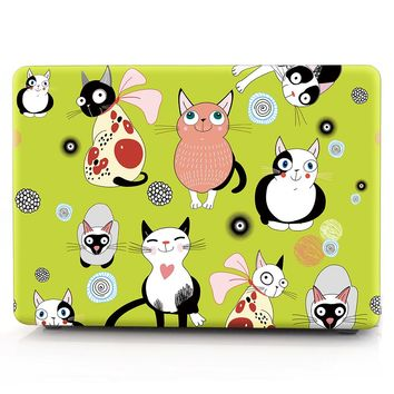 HRH Lovely Cat Laptop Body Shell Protective Hard Case Sleeve for Macbook Pro Retina13 12 15 Air 13 11 New Pro Touch Bar 13 15