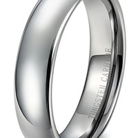 6mm Tungsten Carbide Wedding Band Rings Engagement Promise Domed