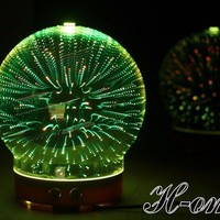 Aromatherapy Diffuser Essential Oil 3D Glass Led Light