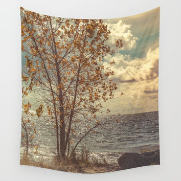 When You Start To Fall Wall Tapestry by Faded  Photos