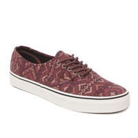Vans Authentic Tribal Rug Shoes - Mens Shoes - Red