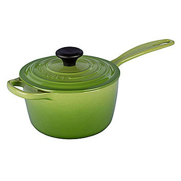 Le Creuset Signature 1.75-Quart Enamel Cast Iron Saucepan - Palm