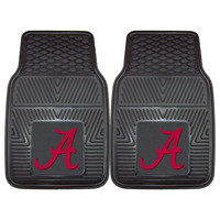 Alabama Crimson Tide NCAA Heavy Duty 2-Piece Vinyl Car Mats (18x27)