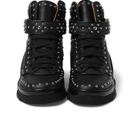 Givenchy - Tyson Studded Leather High-Top Sneakers | MR PORTER